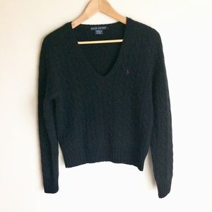 Ralph Lauren Black Label Men's Black Sweater Sz L